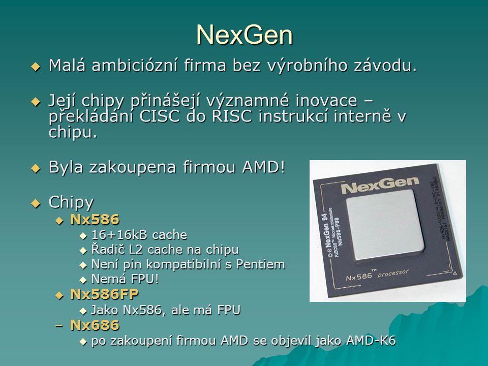 NexGen Malá ambiciózní firma bez výrobního závodu.