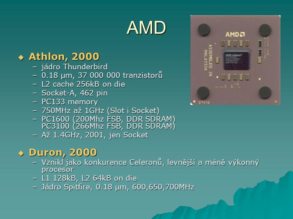 AMD Athlon, 2000 Duron, 2000 jádro Thunderbird