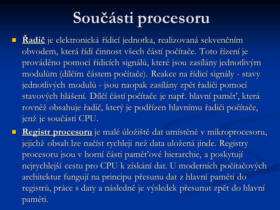 Součásti procesoru