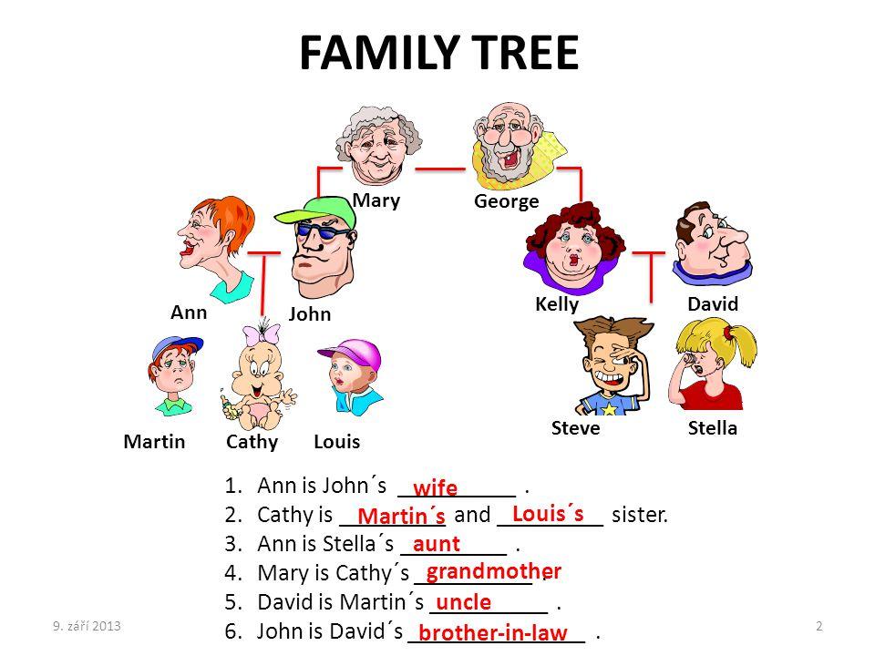 FAMILY TREE Ann is John´s __________ .