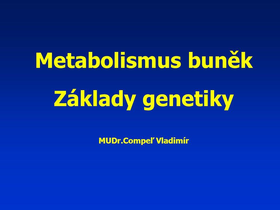 Metabolismus buněk Základy genetiky