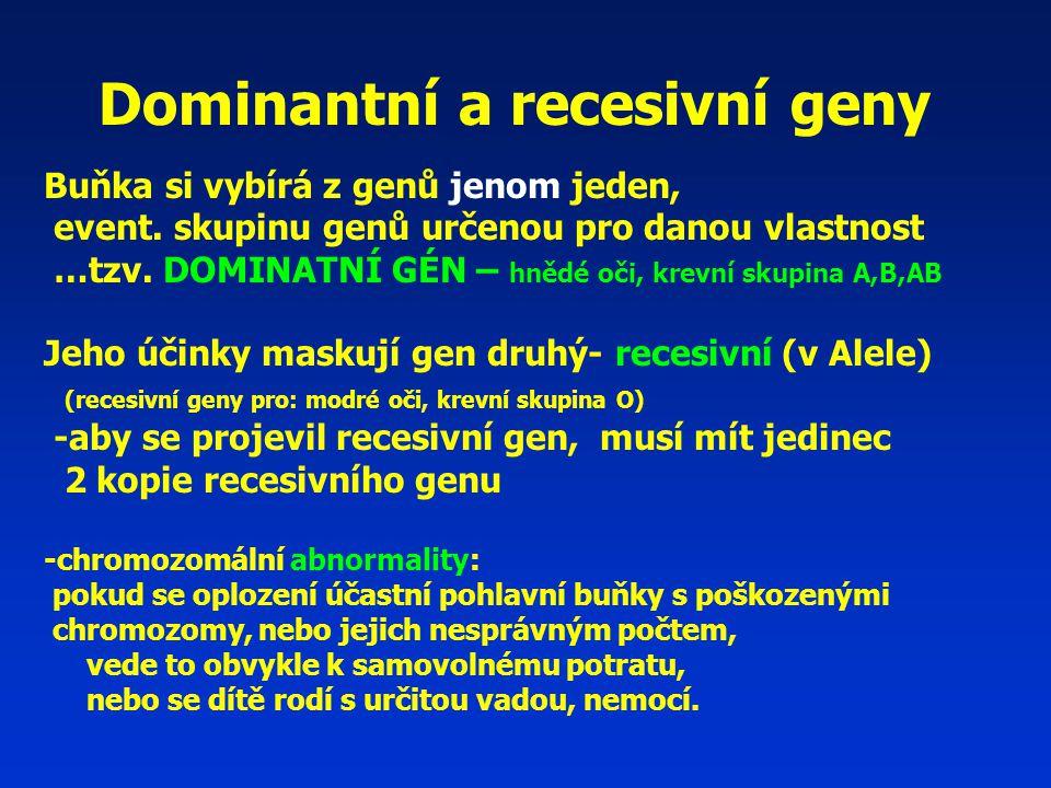 Dominantní a recesivní geny