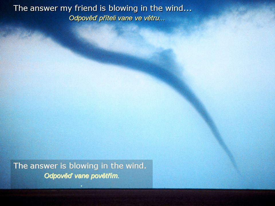 Odpověď příteli vane ve větru...