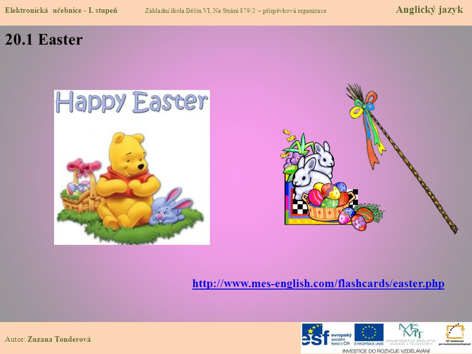20.1 Easter http://www.mes-english.com/flashcards/easter.php
