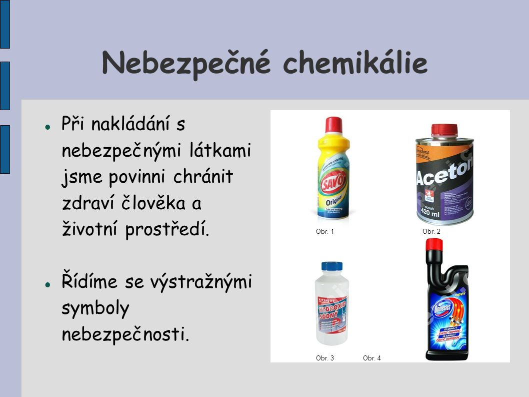 Nebezpečné chemikálie