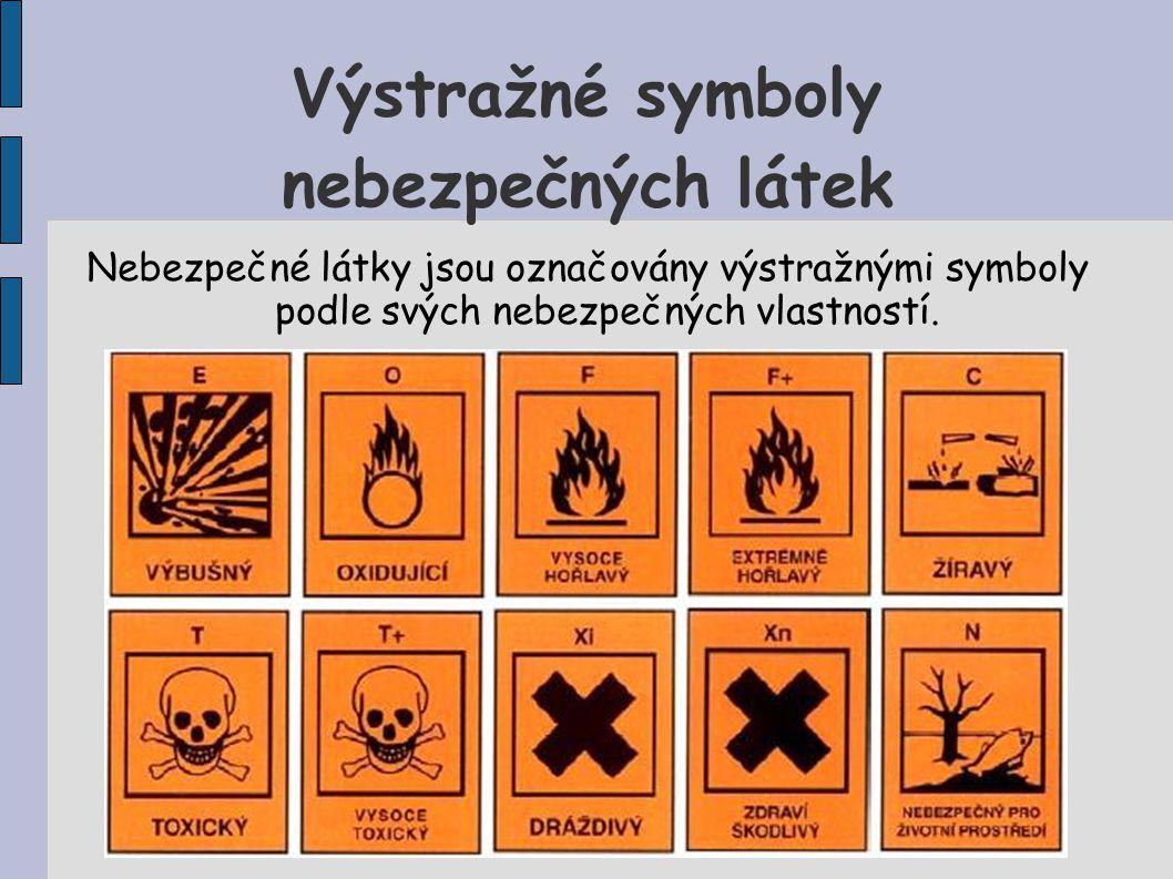 Výstražné symboly nebezpečných látek