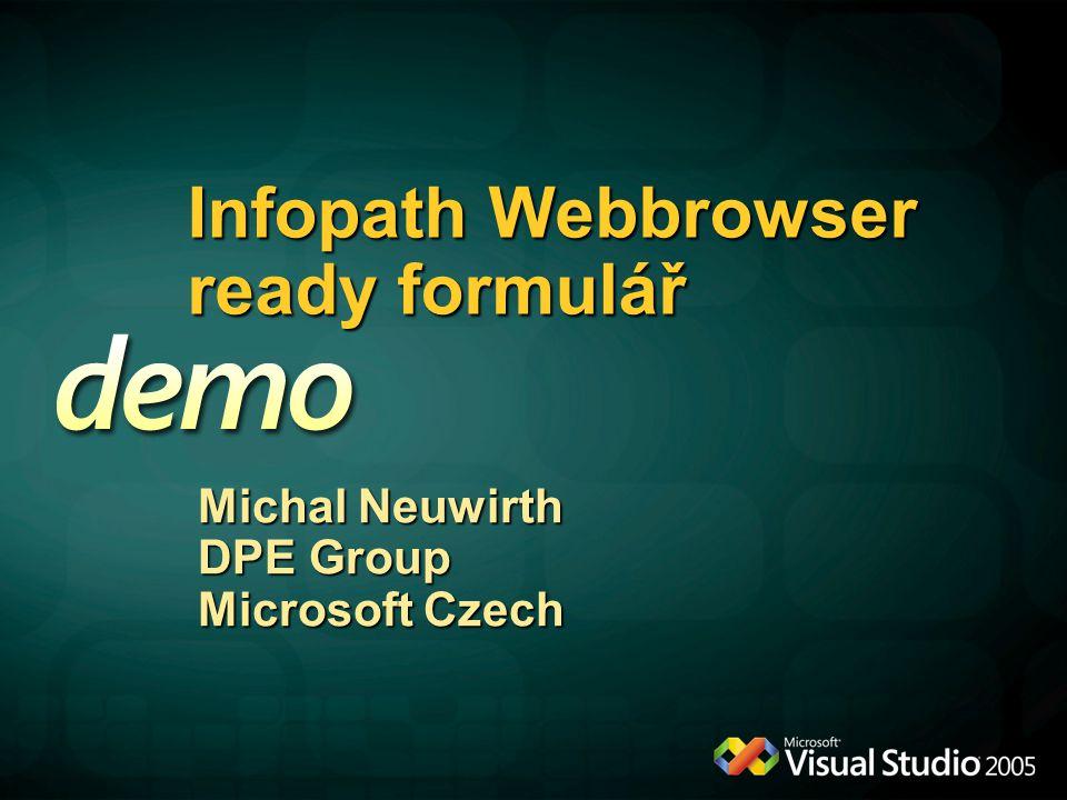 Infopath Webbrowser ready formulář