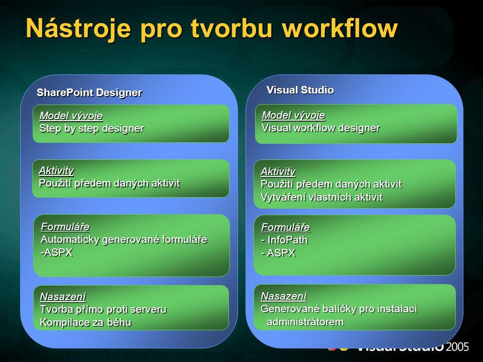Nástroje pro tvorbu workflow