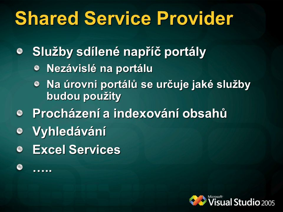 Shared Service Provider