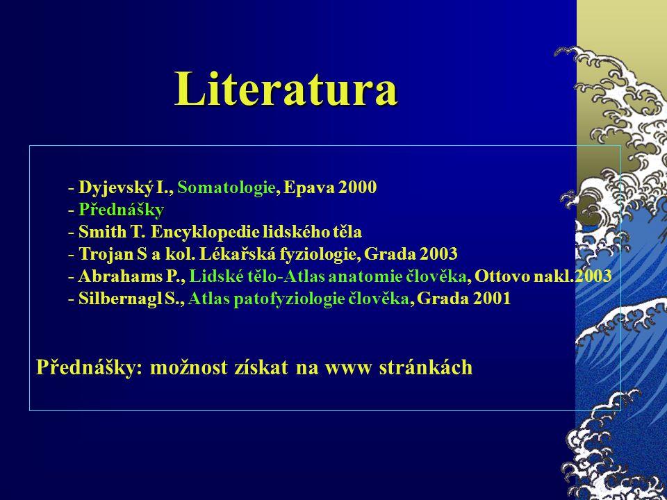 Literatura Přednášky: možnost získat na www stránkách