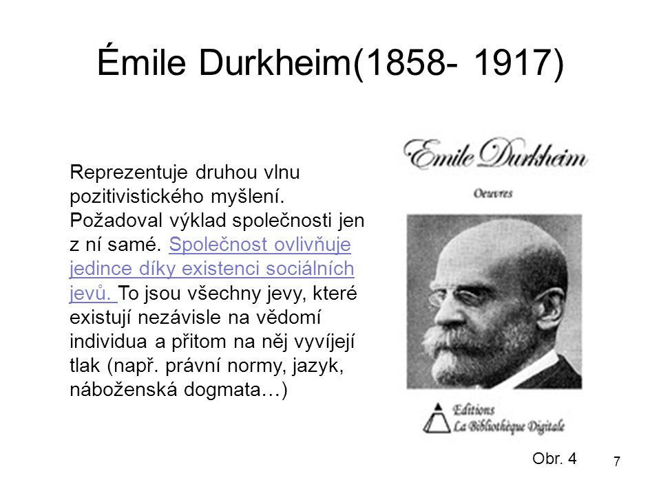 Émile Durkheim(1858- 1917)