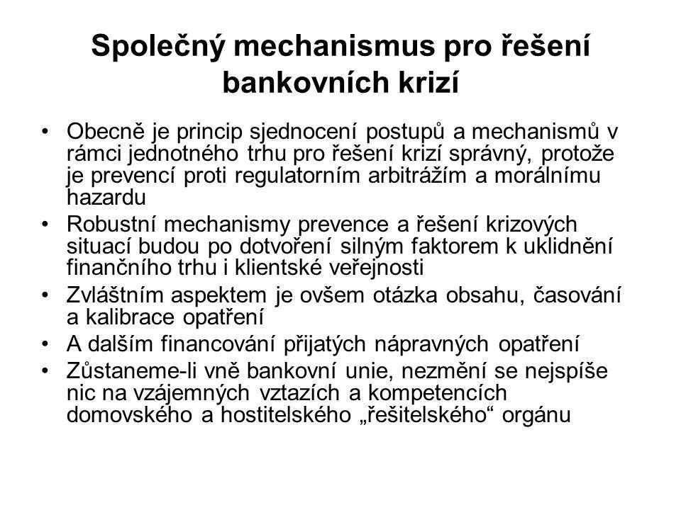 Společný mechanismus pro řešení bankovních krizí