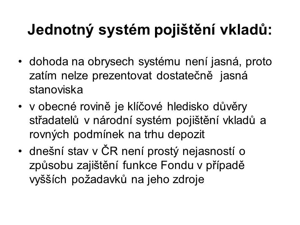 Jednotný systém pojištění vkladů: