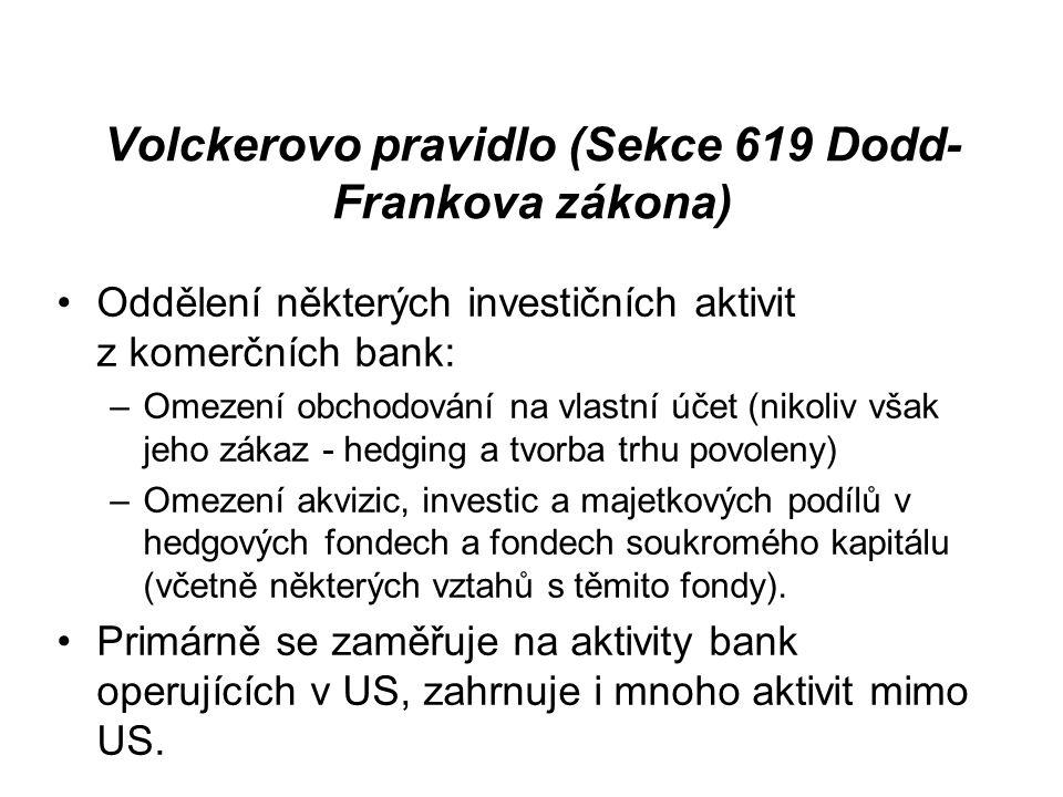 Volckerovo pravidlo (Sekce 619 Dodd-Frankova zákona)