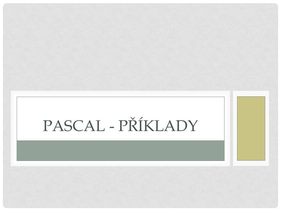 Pascal - příklady