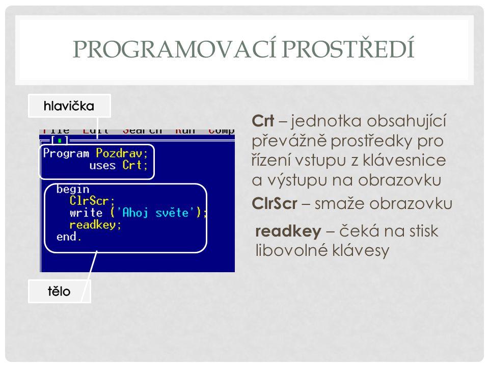 Programovací prostředí