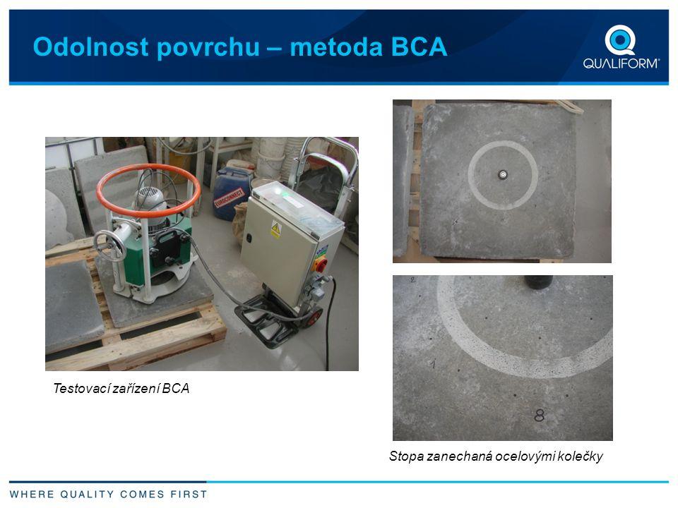 Odolnost povrchu – metoda BCA