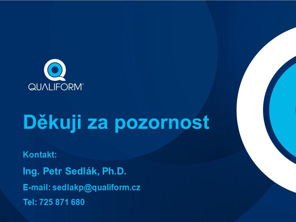 Děkuji za pozornost Ing. Petr Sedlák, Ph.D. Kontakt:
