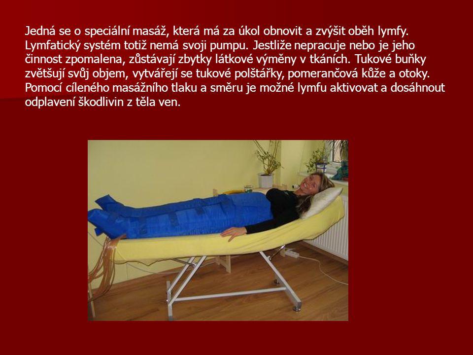 Jedná se o speciální masáž, která má za úkol obnovit a zvýšit oběh lymfy.