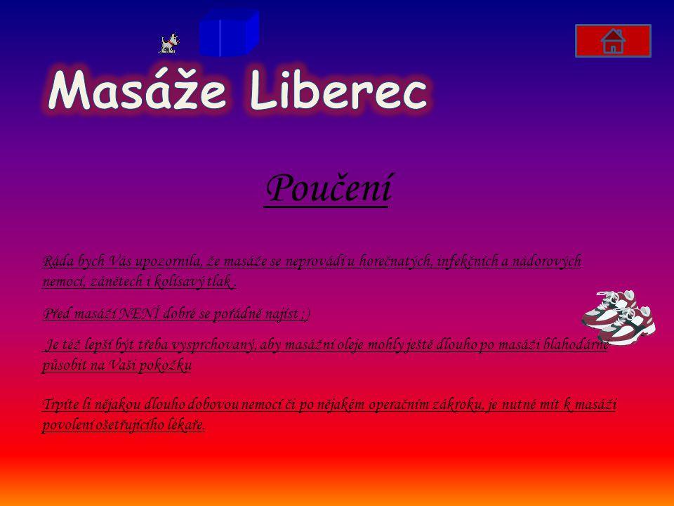 Masáže Liberec Poučení