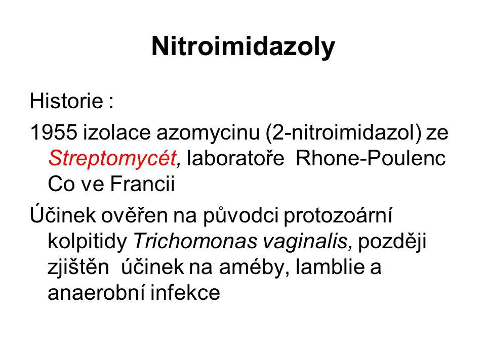 Nitroimidazoly Historie :