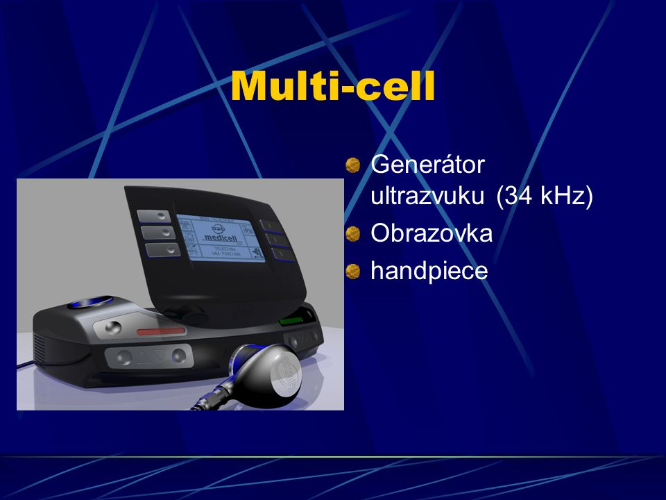 Multi-cell Generátor ultrazvuku (34 kHz) Obrazovka handpiece