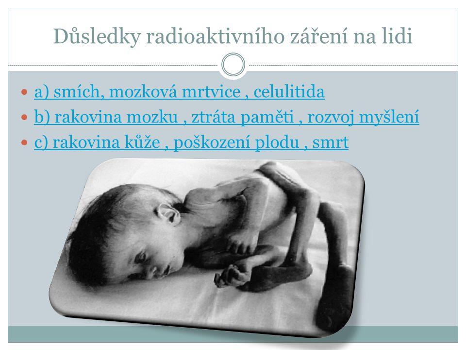 Důsledky radioaktivního záření na lidi