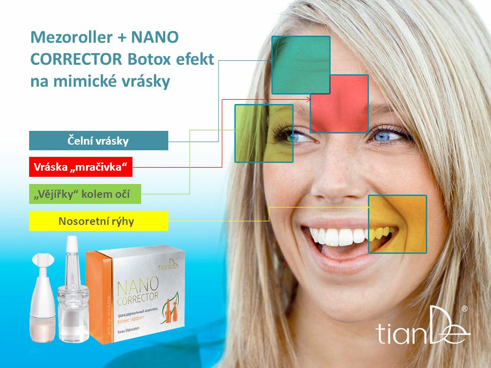 Mezoroller + NANO CORRECTOR Botox efekt na mimické vrásky