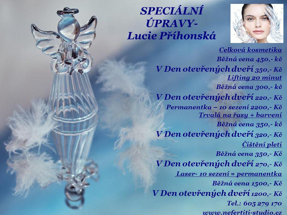 SPECIÁLNÍ ÚPRAVY- Lucie Příhonská