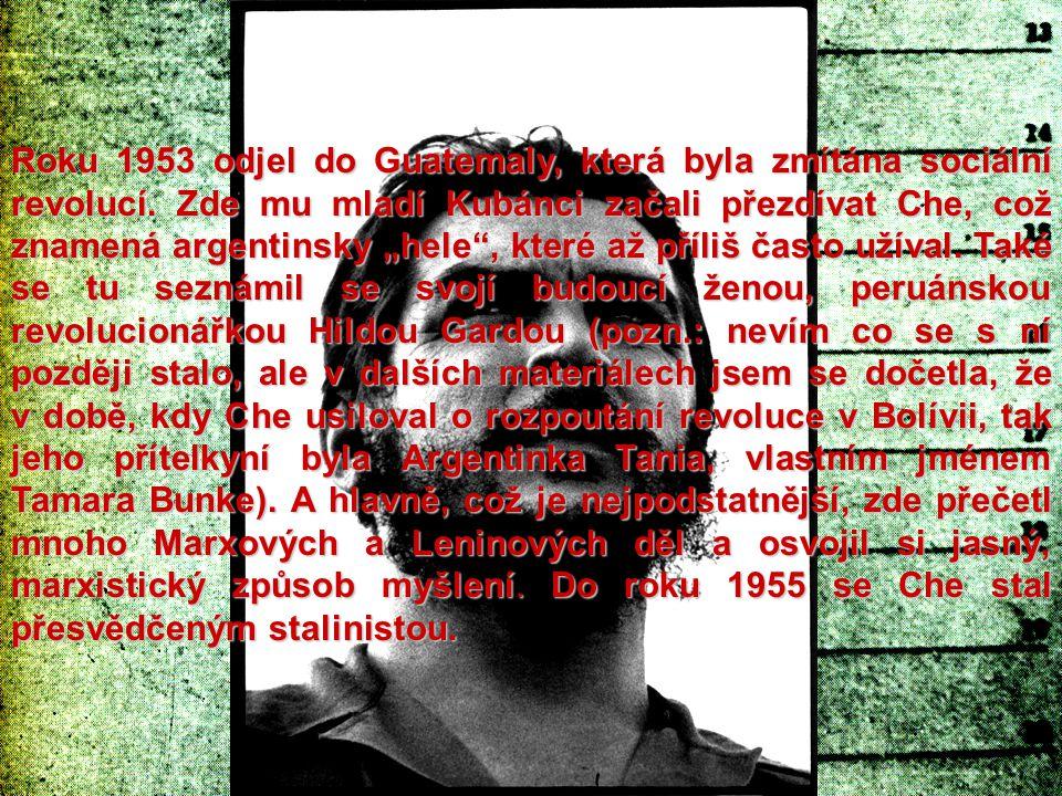 Roku 1953 odjel do Guatemaly, která byla zmítána sociální revolucí