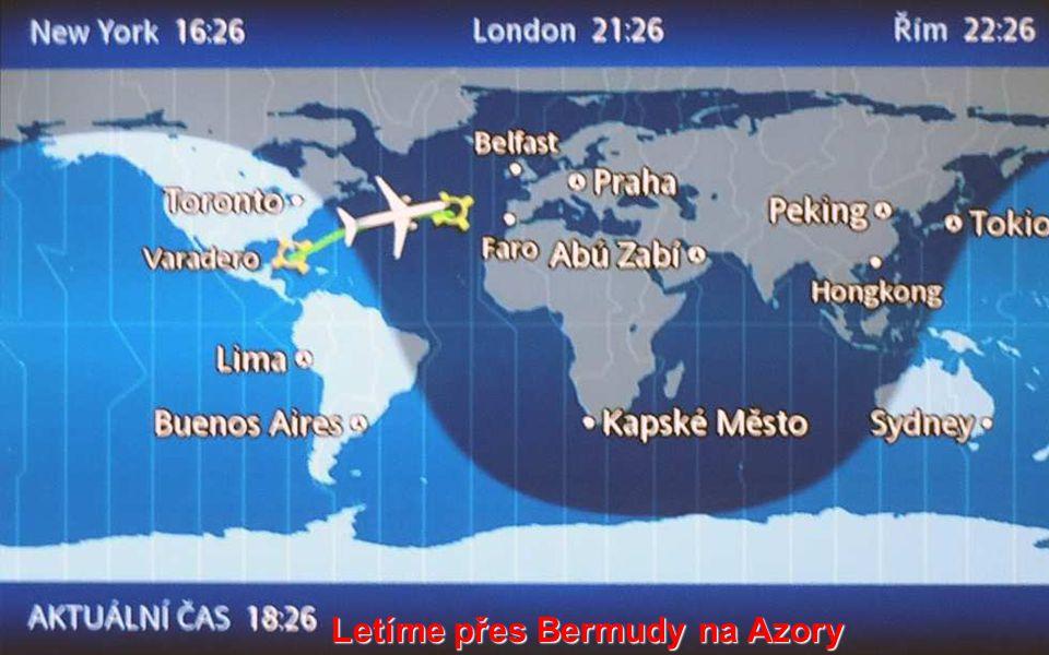 Letíme přes Bermudy na Azory