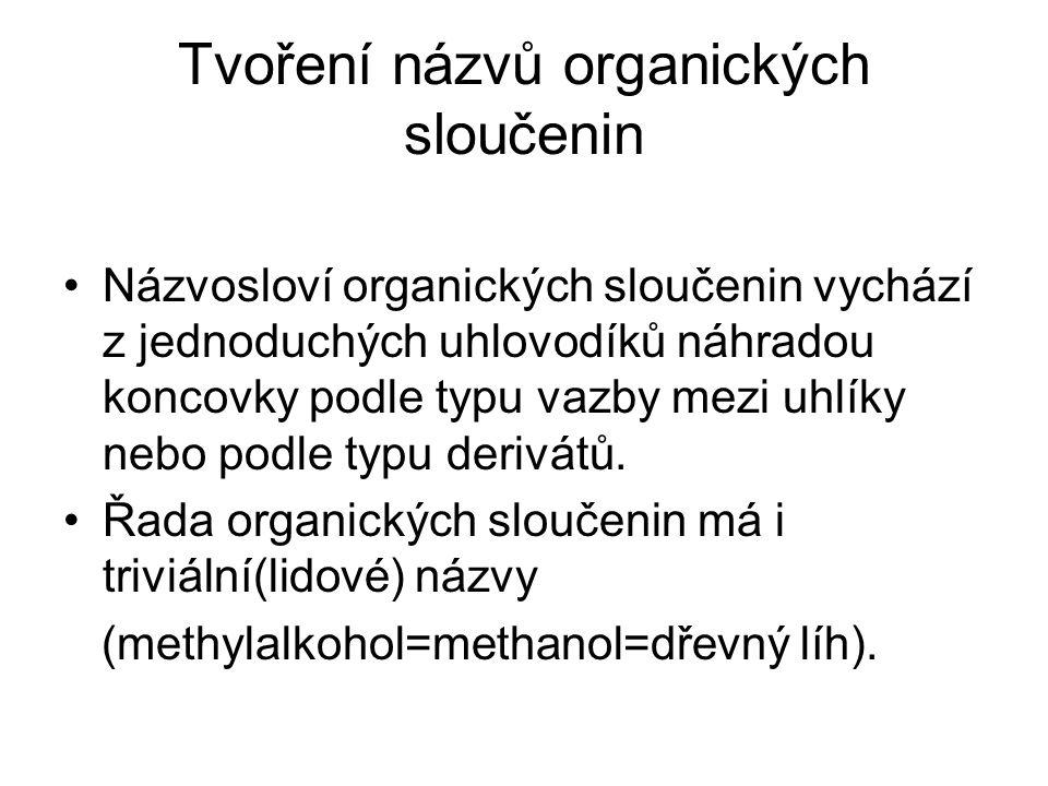 Tvoření názvů organických sloučenin
