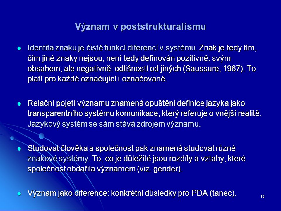 Význam v poststrukturalismu