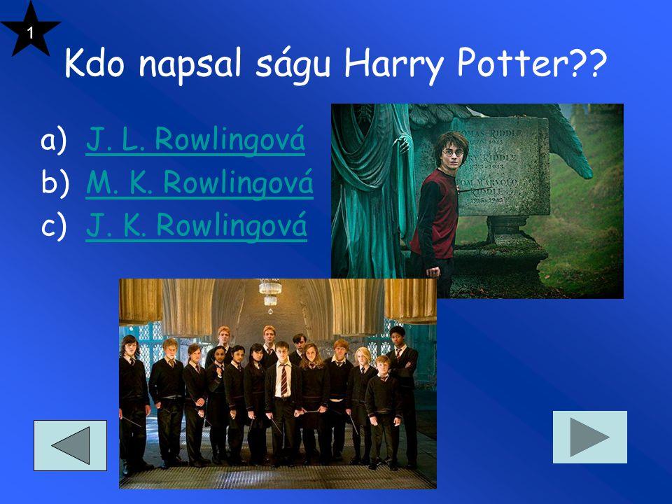 Kdo napsal ságu Harry Potter