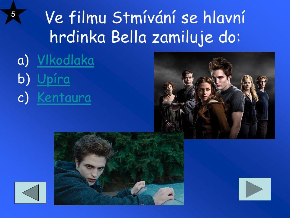Ve filmu Stmívání se hlavní hrdinka Bella zamiluje do: