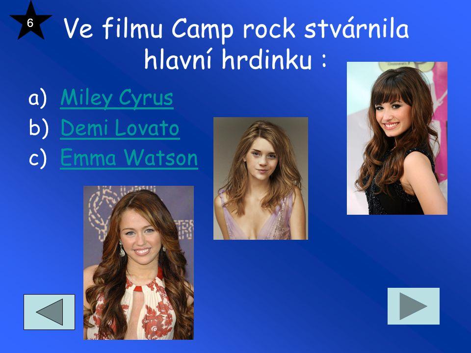 Ve filmu Camp rock stvárnila hlavní hrdinku :
