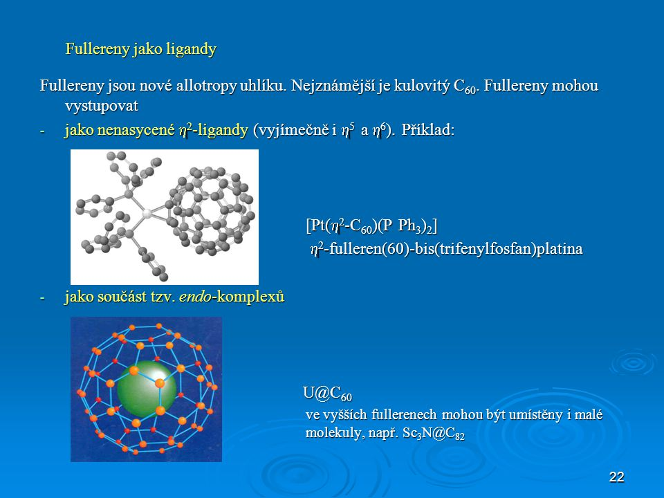 Fullereny jako ligandy