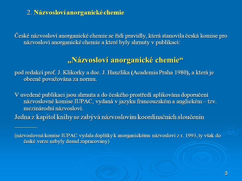 2. Názvosloví anorganické chemie