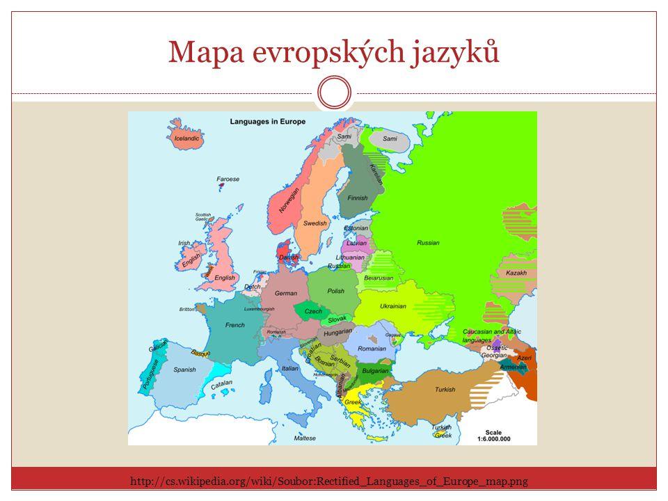 Mapa evropských jazyků