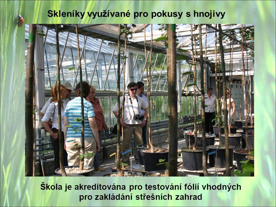 Skleníky využívané pro pokusy s hnojivy
