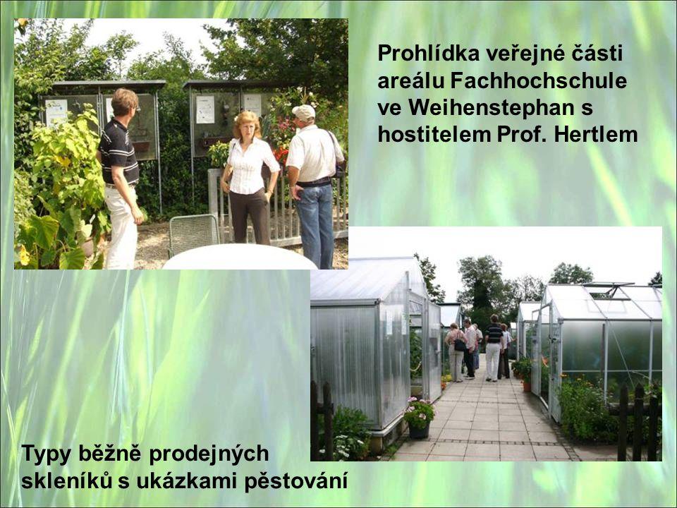 Prohlídka veřejné části areálu Fachhochschule ve Weihenstephan s hostitelem Prof. Hertlem