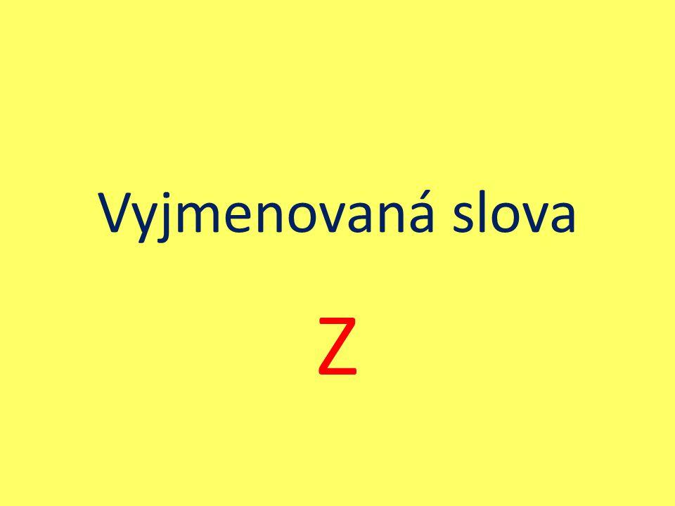 Vyjmenovaná slova Z