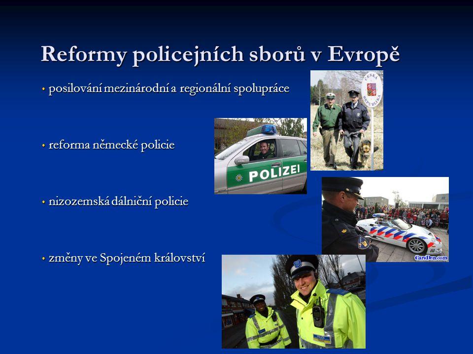 Reformy policejních sborů v Evropě