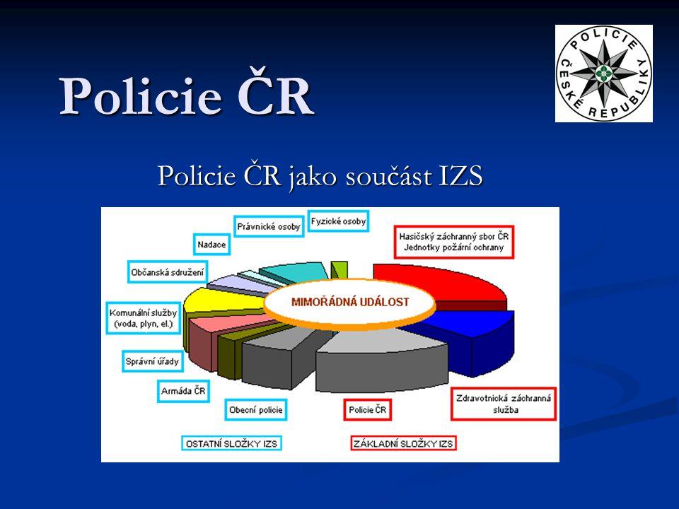 Policie ČR jako součást IZS