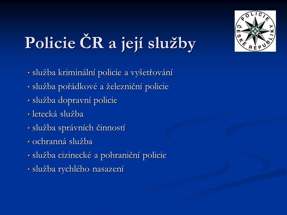 Policie ČR a její služby