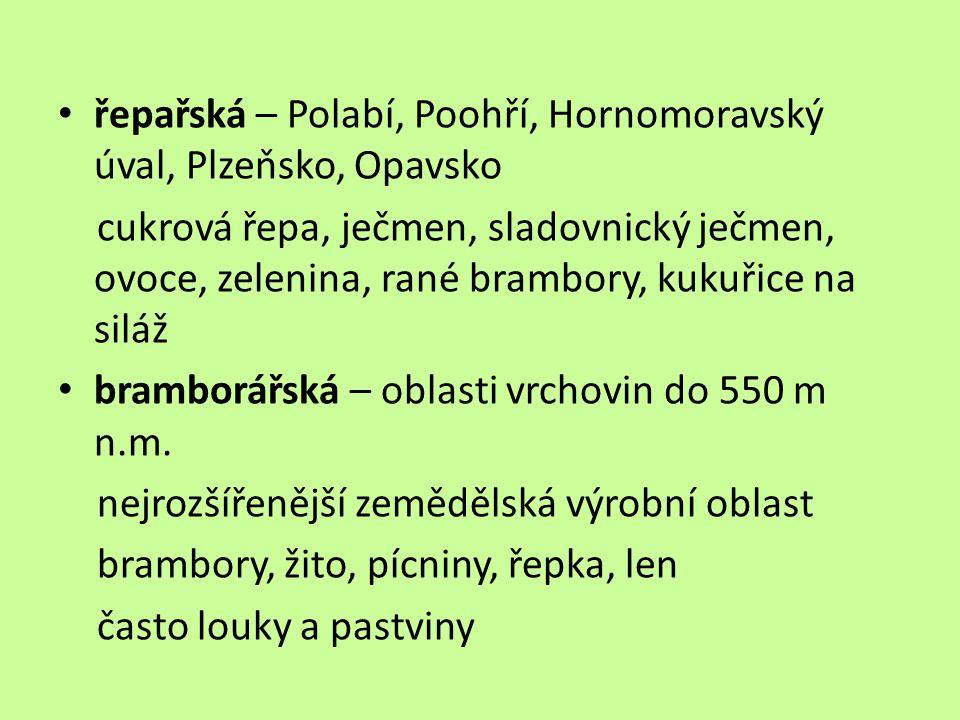řepařská – Polabí, Poohří, Hornomoravský úval, Plzeňsko, Opavsko
