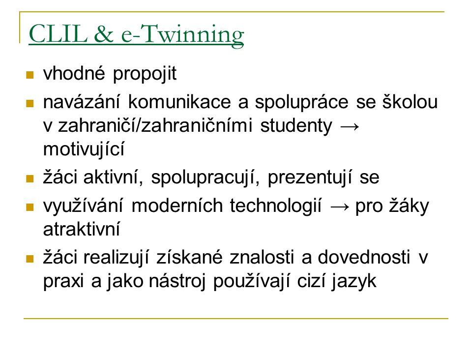 CLIL & e-Twinning vhodné propojit