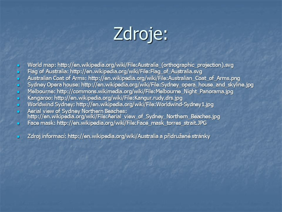 Zdroje: World map: