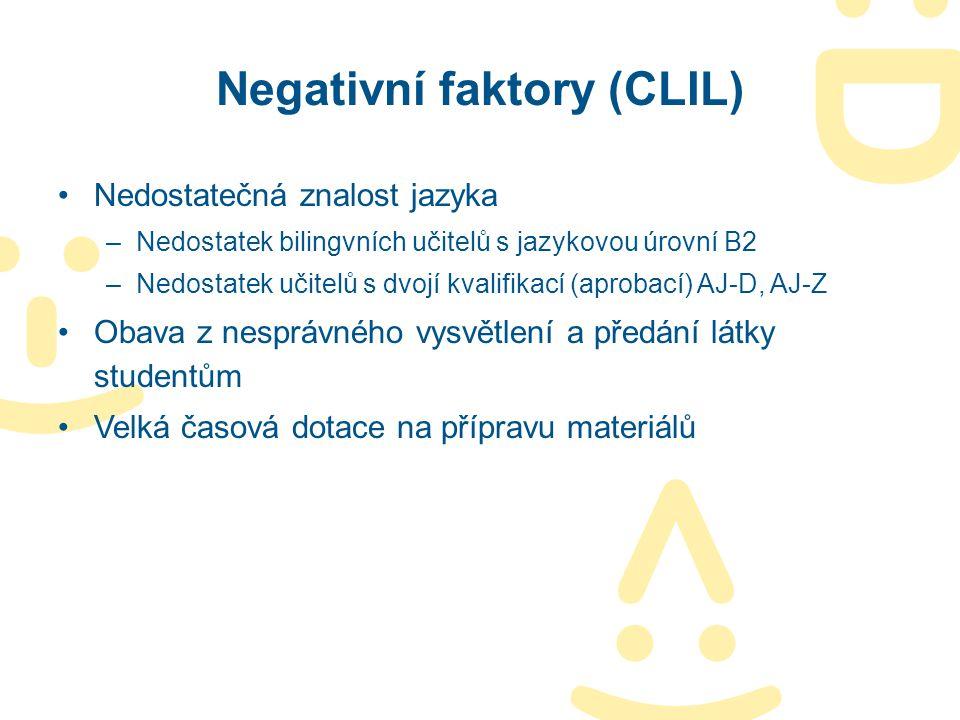 Negativní faktory (CLIL)