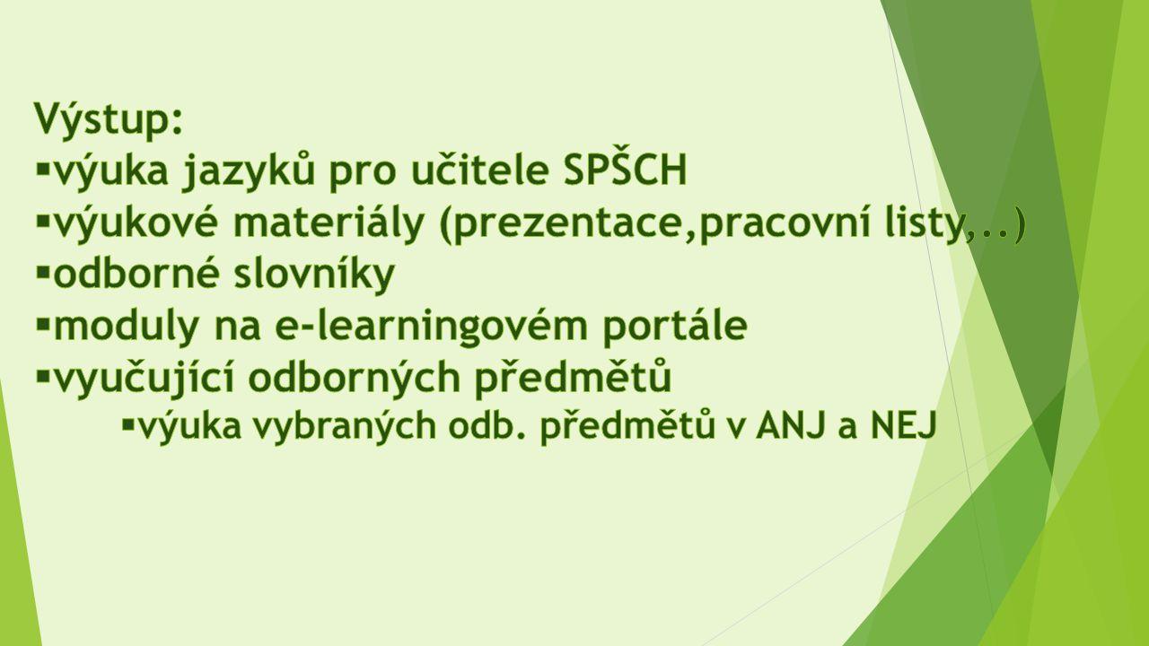 výuka jazyků pro učitele SPŠCH